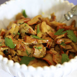 Sautéed Chanterelles With Parsley.