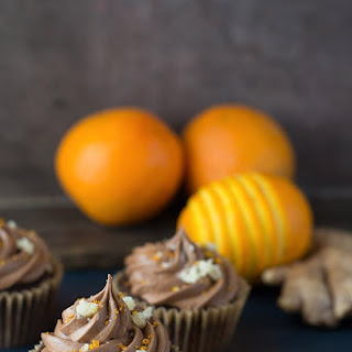 Vegan Chocolate Cupcakes with Ginger & Orange