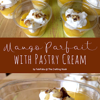 Mango Parfait with Pastry Cream.