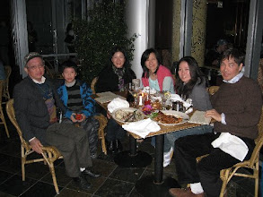 Photo: Then we had dinner with Stephen, his wife Ella and his 2 kids