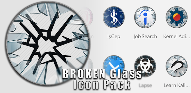 Broken Glass Icon Pack