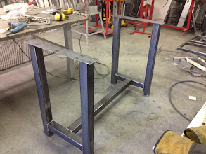 Photo: Base for raised tables for Tailgators Sports Bar