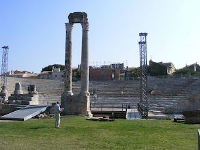 Photo: We arrive at the  first century BCE Amphitheatre, evidence of the prosperous Roman city here.