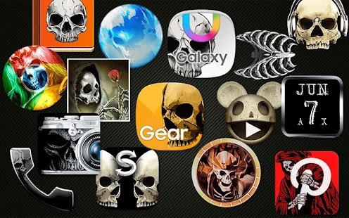 Lebka Téma - Skull Theme - náhled