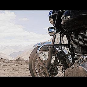 ladakh, bikes n adventure by Shambaditya Das - Novices Only Objects & Still Life