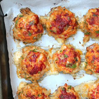 Baked Chicken Meatballs.