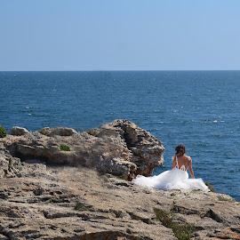 Sadness by Neli Dan - Wedding Bride ( bride, alone, melancholy )