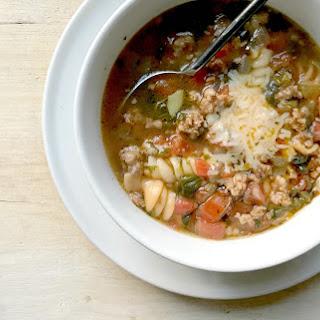 Instant Pot Crumbled Italian Sausage Soup.