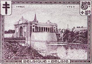 """Photo: """"Les sites"""" (2-12-1929). Porte de Menin à Ypres."""