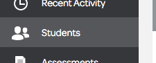 Icon that brings you to your student list
