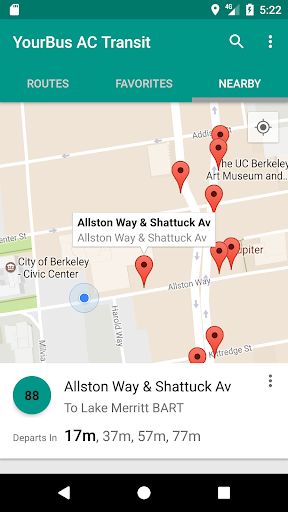AC Transit Bus Tracker App - Commuting made easy  by Rangi