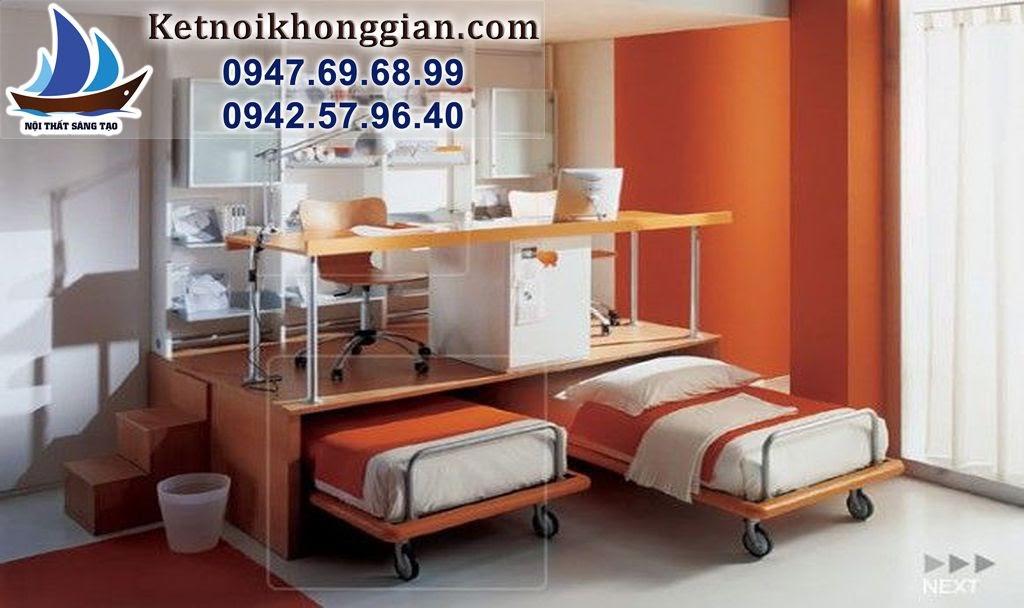 thiết kế phòng ngủ bé trai hoạt bát