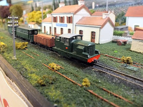 Photo: 021 A diesel powered mixed train passes through Sy Newitt's St Frazel le Chateau .