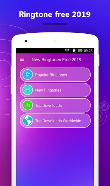 New Ringtones Free 2019 Android App Screenshot
