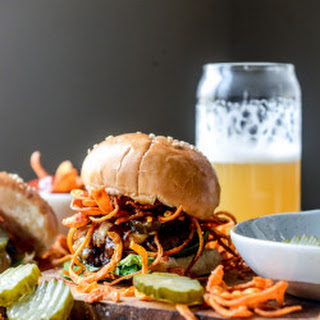 BBQ Havarti Burgers with Sweet Potato Curly Fries