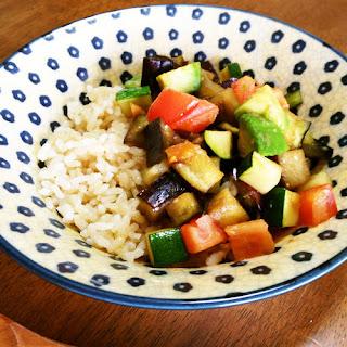 Eggplant, Avocado & Tomato Summer Rice