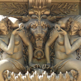 Mermaids with Lion Head Fountain by Nicola Graham - Buildings & Architecture Architectural Detail ( architctural detail, edinburgh, princes street gardens, fountain, mermaids, architectural details, buildings & architecture )