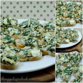 Spinach Artichoke Bruschetta.