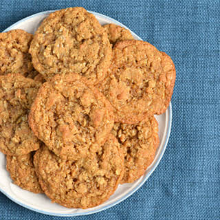 100% Whole Wheat Chewy Oatmeal Coconut Cookies.