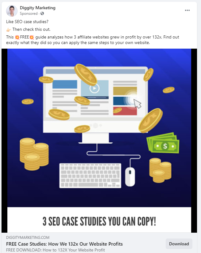 case study facebook ad