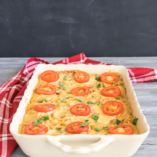 Baked Spaghetti with Cashew Cheese.