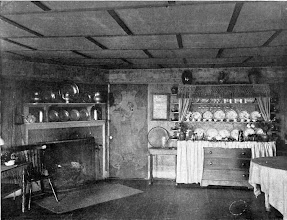 """Photo: 1903 A dining room in """"Pennyroyal"""" a small summer cottage belonging to a socialite."""