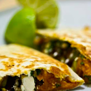 Butternut Squash Quesadillas with Leeks and Feta