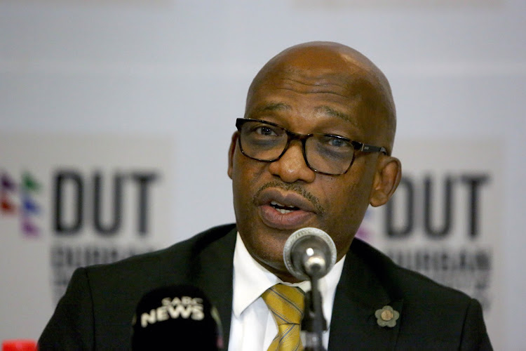 DUT vice-chancellor and principal Thandwa Mthembu during a press briefing on Friday, February 22 2019, about agreements reached with the Student Representative Council (SRC) and the resumption of the academic programme.