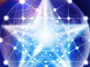 Photo: red de triángulos y estrella