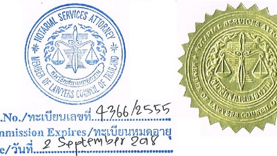 Notary Public Just 500 Per Notarized Seal Thailand