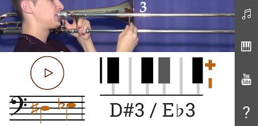 2D Trombone Notes Slide Positions - How To Play - by urokimusic