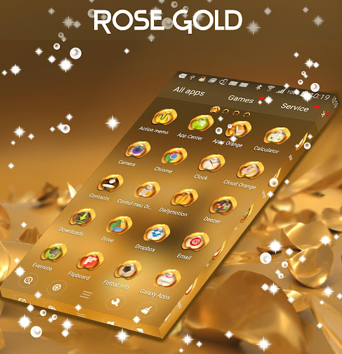 Rose Gold Launcher Theme 1.264.13.19 screenshots 1