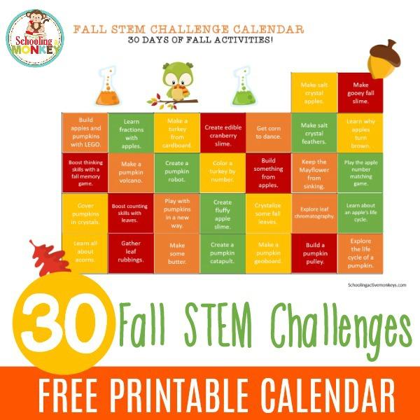 fall stem calendar