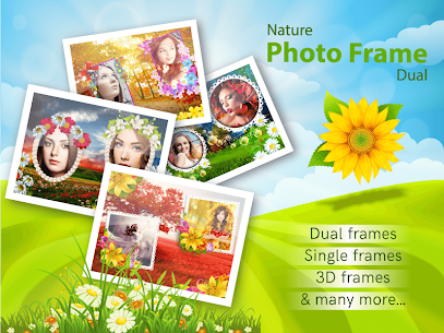 Nature photo frames dual: Photo editor & filters Apk Download For Android 1