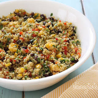 Southwestern Black Bean, Quinoa and Mango Medley.