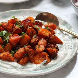 Sweet Roasted Carrots with Dill & Tahini Yoghurt