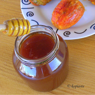 Prickly Pear Honey Syrup.