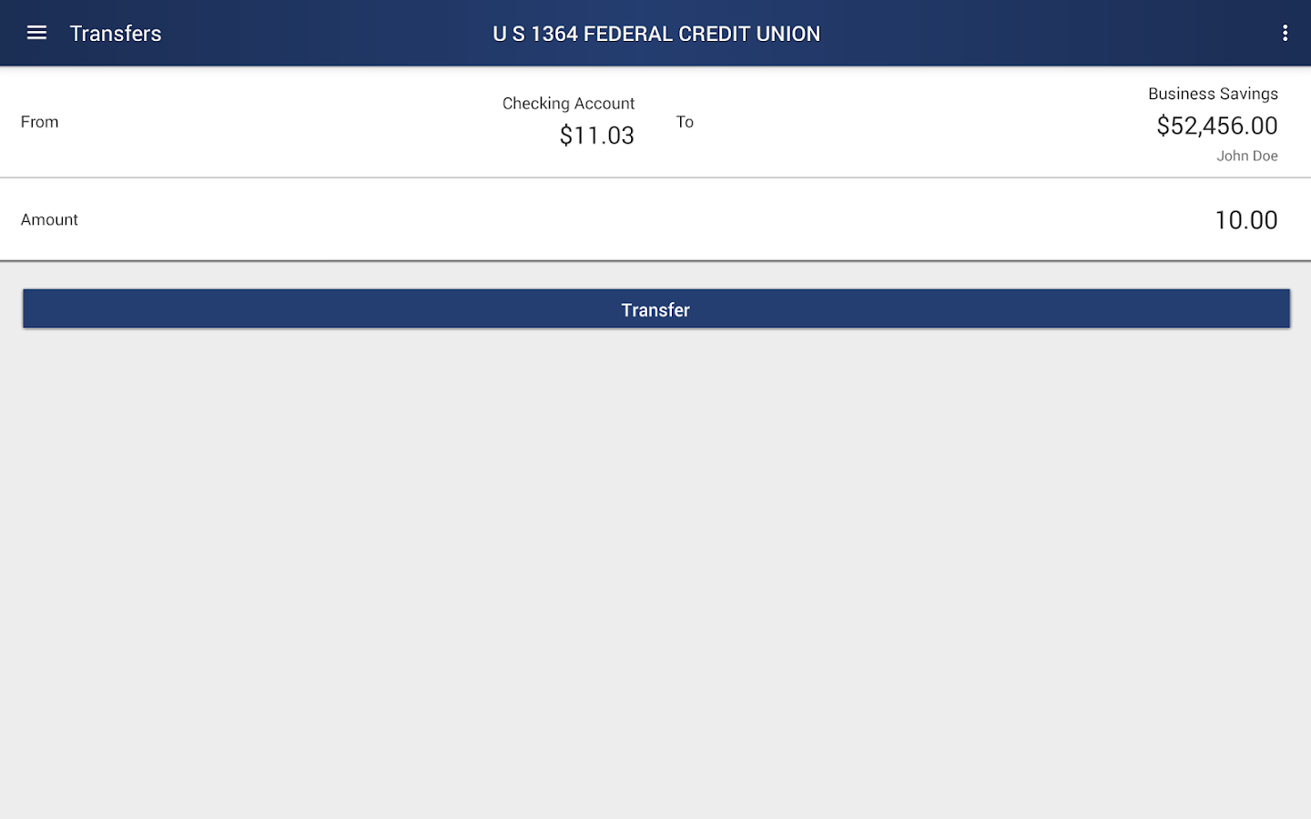 U S #1364 FEDERAL CREDIT UNION- screenshot