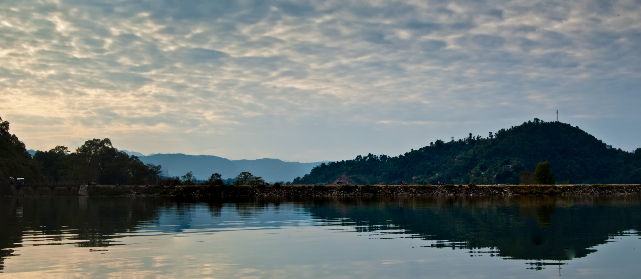 Photo: Begnas Lake  A panorama of the beautiful Begnas Lake in Pokhara. Submitted for #MirrorMonday curated by +Gemma Costa and +Elizabeth Edwards .