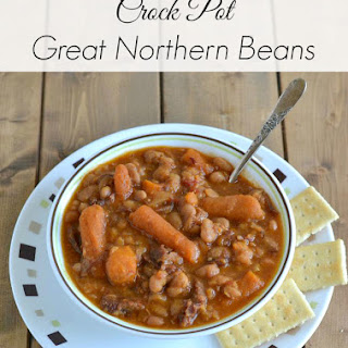 Crock Pot Great Northern Beans.