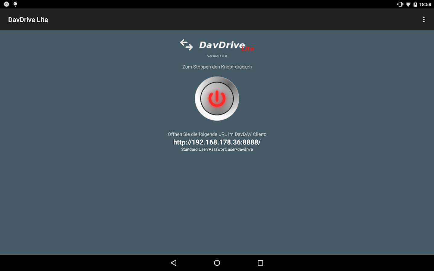 DavDrive Lite- screenshot