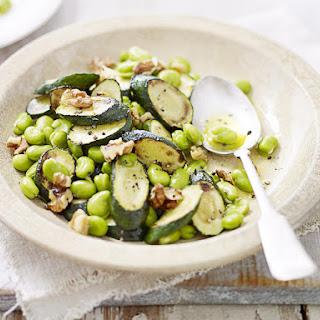 Fava Bean and Zucchini Salad.
