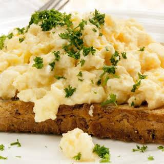 Cream Cheese Scrambled Eggs.
