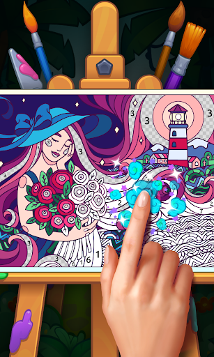 Color Stories: coloring casino & paint art gallery  screenshots 1