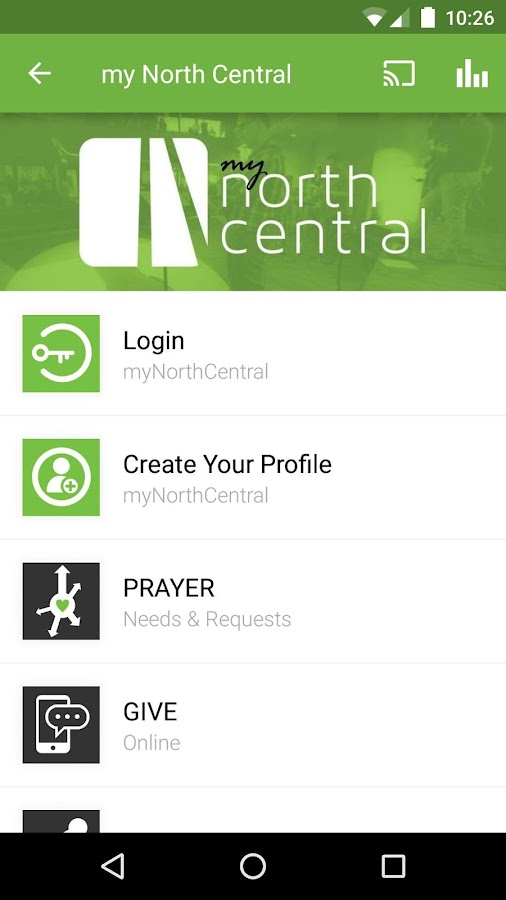 North Central Church- screenshot