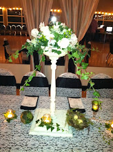 Photo: Shabby Chic bowl stand centerpiece perfect for a Garden Wedding!