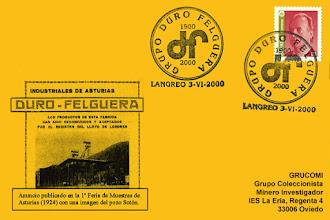 Photo: Tarjeta del matasellos del 2000 en Langreo, del Centenario de Duro Felguera