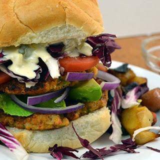 Shrimp Burgers with Horseradish Tartar Sauce