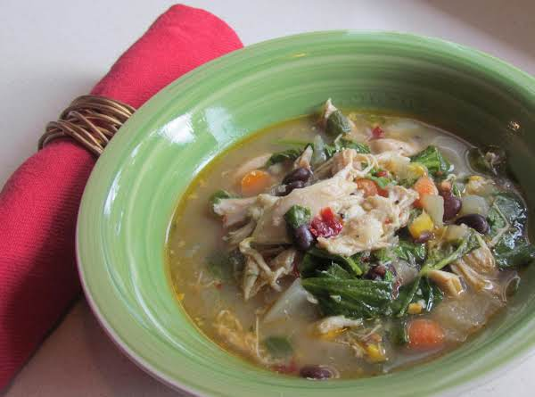 Slow Cooker Rotisserie Chicken & Adobo Chili Pepper Chowder