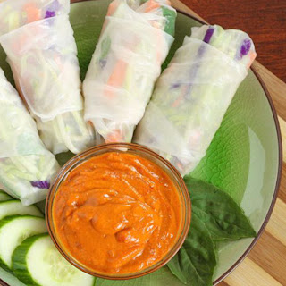 Summer Rolls With Red Curry Dipping Sauce